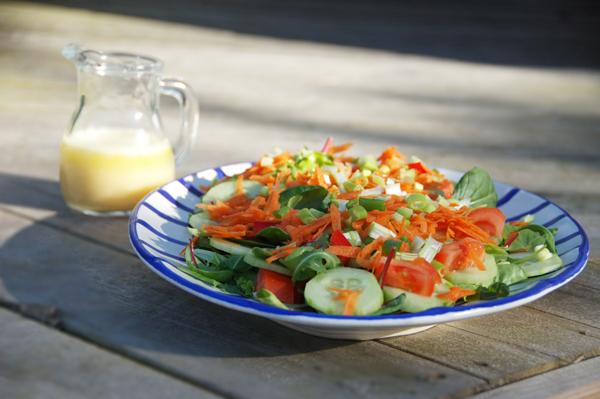 sallad-med-gurka-tomat-paprika-oskärpa