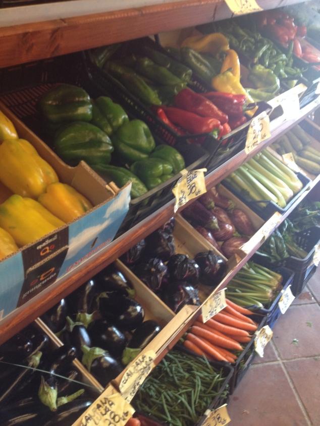 Grönsaker i Rimini