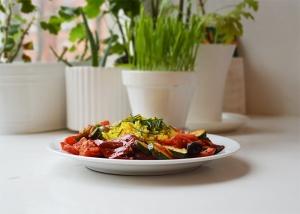 Ris och grönsaker
